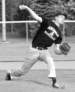 Ethan Hagans was the winning pitcher against Defiance, Monday, June 8.– photo by Mario Gomez
