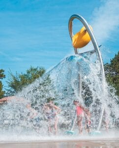 One of the water features of the proposed splash pad, slated to be built in Ruihley Park. The pad is being constructed with donations and grant money.– courtesy photo