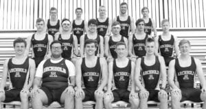 Letterwinners on the AHS boys track team are, front row, from left: Trey Theobald, Rudy Dua, Austin Roth, Levi Tilse, Weston Ruffer, Caleb Ranzau. Second row:... Hunter Cullen-Lemley, Brady Johns, Alex Roth, Gabe Short, Karter Behnfeldt, Dane Riley... Third ...row: Cole Plassman, Aden McCarty, Sean Hageman, Parker Von Deylen, Ben Dowdy..– photo courtesy Brian Becher