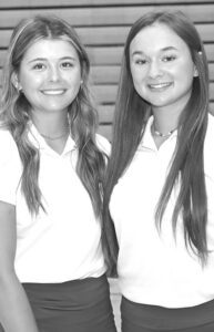 Letterwinners on the AHS girls golf team are Carly Grime, left, and Brayton Huffman..–– photo by Mary Huber