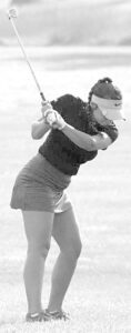 Brayton Huffman was the low AHS golfer in two matches last week, and tied for low golf in the third.– photo courtesy Trena Huffman