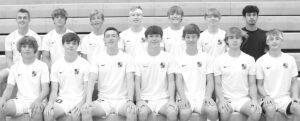 Letterwinners on the AHS boys soccer team are, front row from left: Wyat Fryman, Devon Apt, Kaden Rufenacht, Karson Rufenacht, Ethan Stuckey, Tyler Apt, Ben Dowdy. Second row:..... ...........................Krayton Kern, Brodie Dominiq..............ue, Lance Ramirez, Dane Riley, Gabe Short, Colten Beaverson, Kyler Boulton.– photo by Mary Huber