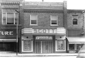 The Scott Theatre before the Feb. 20, 1972 fire.– photos from the Archbold Buckeye archives